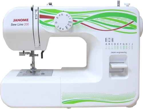 Швейная машина Janome Sew Line 200 sast 10 1 inch display nintaus machine singing old machine 50p lcd screen hw101f 0b 0c 50