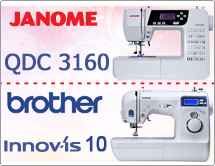 Тест драйв №17: Brother INNOV-IS 10 и Janome 3160 QDC