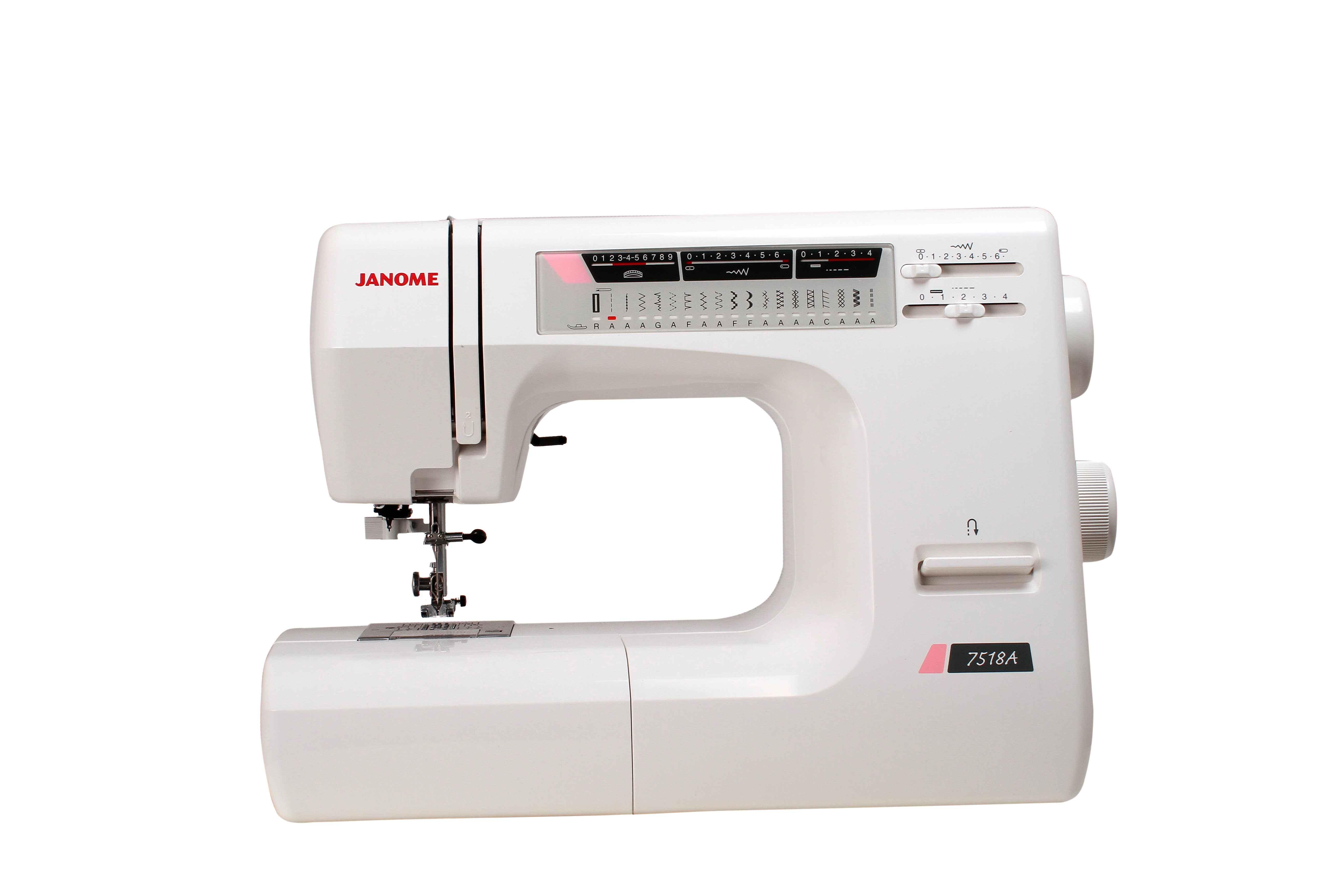 купить Швейная машина Janome 7518A (жесткий чехол) по цене 12691 рублей