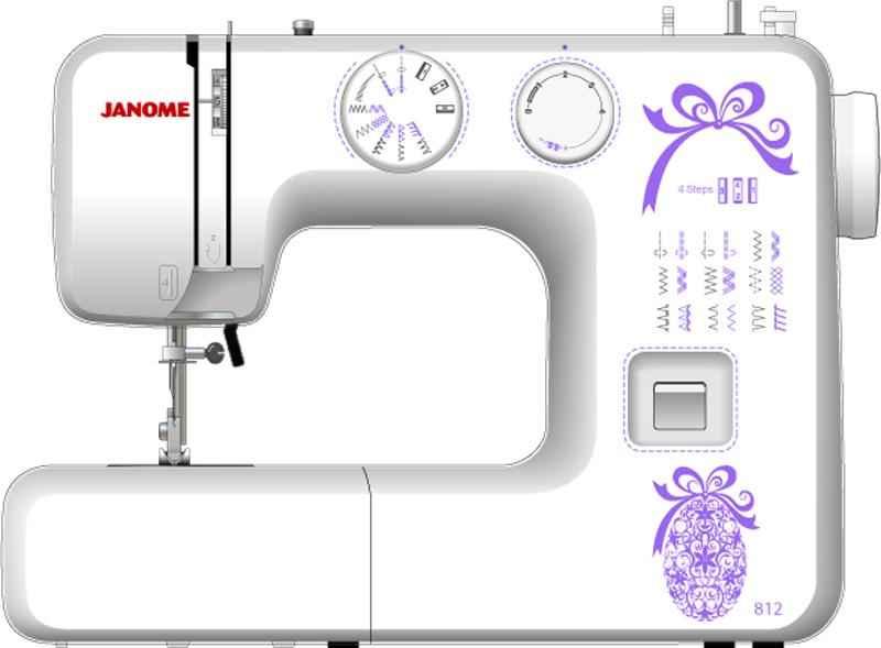 Швейная машина Janome 812 цена и фото