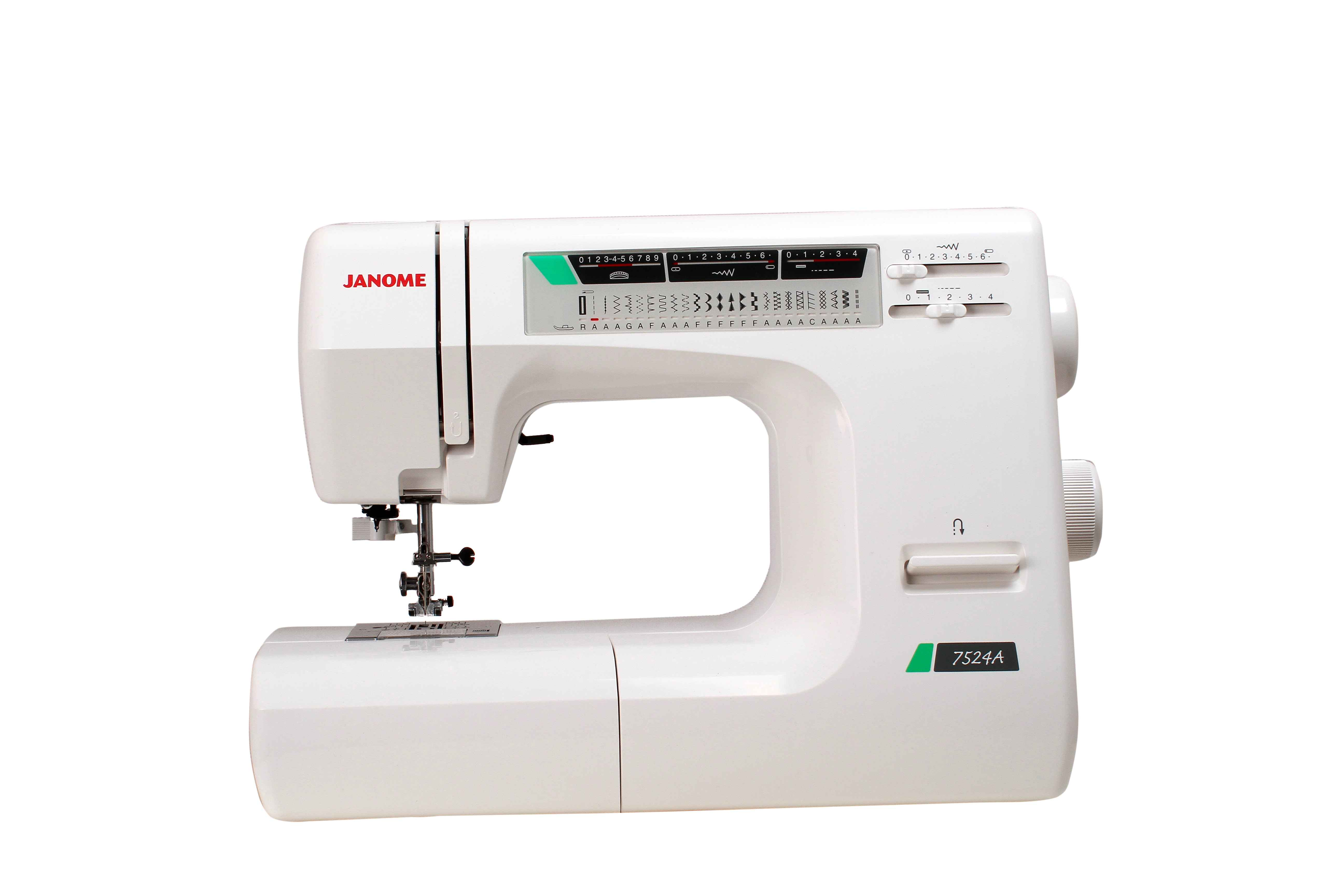 Швейная машина Janome 7524A (жесткий чехол) швейная машина janome decor computer 4030 dc 4030 жесткий чехол