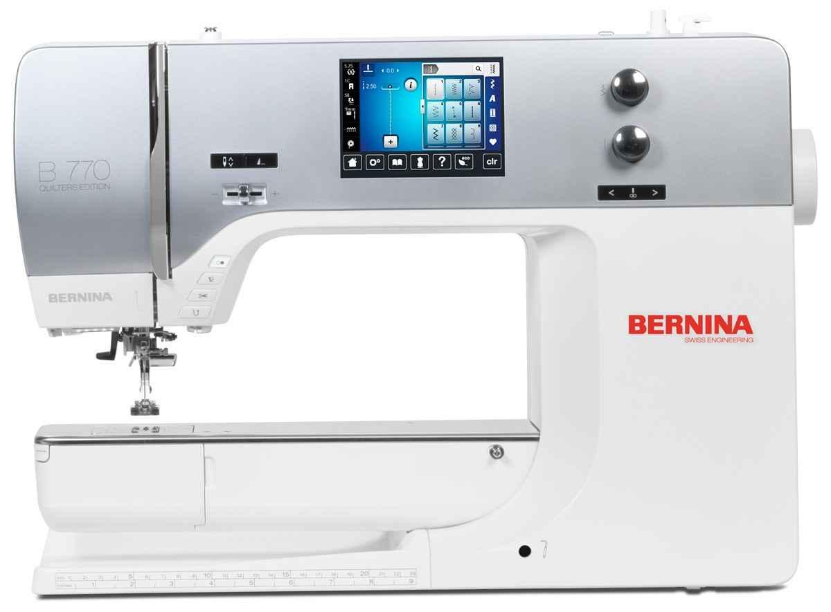 Швейная машина Bernina 770 QE с вышивальным блоком цены