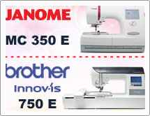 Тест драйв №11: Janome Memory Craft 350E (MC 350 E) и Brother INNOV-IS 750E (NV 750 E)