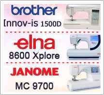 Тест драйв №24 Brother 1500, Elna 8600, Janome 9700
