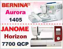 Тест драйв №5: Bernina Aurora 1405(450) и Janome Memory Craft Horizon 7700 QCP
