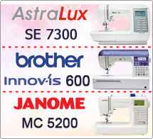 Тест драйв №7: Janome Memory Craft 5200 Brother Innovis 600 и Astralux 7300 SE