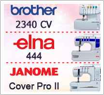 Тест драйв №20 Brother 2340 CV, Elna 444, Janome Cover Pro 2